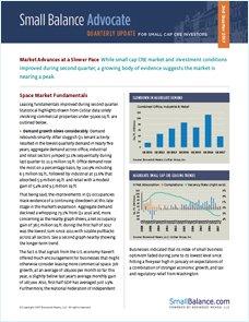Market Advances at a Slower Pace