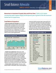 Momentum in Investment Property Sales and Prices Slows