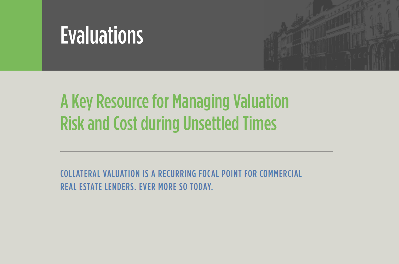 A Key Resource for Managing Valuation Risk and Cost during Unsettled Times