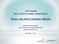 Presentation on Small Balance Lending Trends