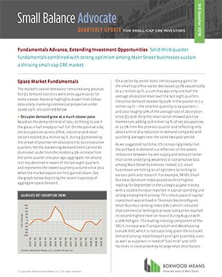 Fundamentals Advance, Extending Investment Opportunities